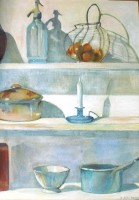 Etagères - Pigments sur toile - 65 x 93  >>> 05-2003