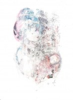 Femme à l'enfant endormi - Transfert - 24 x 30 >>> 2015