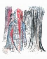 Marianne et les ombres - Transfert - 24 x 30 >>> 2015
