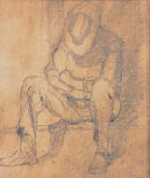 Sieste au soleil - Crayon - 24 x 31