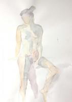 Nu debout atelier libre - 30 x 41 >>> 2004