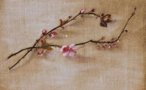 Branche de pommier  - Pigments sur toile    - 33 x 24 >>> 2004