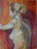 Jeune modèle - Pigments sur bois - 44 x 55 >>> 11-2003