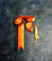 Le ruban jaune - Trompe l'oeil - 29 x 34 >>> 1997