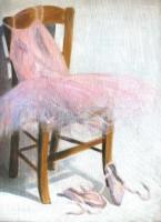Le tutu rose - Pigments sur toile - 46 x 61 >>> 04-2003