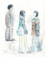 Les adolescents - Transfert -  24 x 30 >>> 25 03 2015