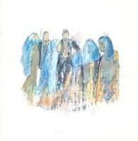 Les enfants bleus - Transfert - 19 x 19 >>> 2015