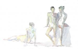 Nu Atelier Libre - Aquarelle - 60 x 40 >>> 2004