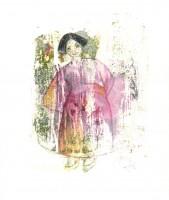 Petite japonaise - Transfert - 19 x 19 >>> 2014