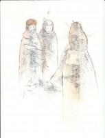 Rencontre dans le froid - Transfert - 21 x 28 >>> 2014