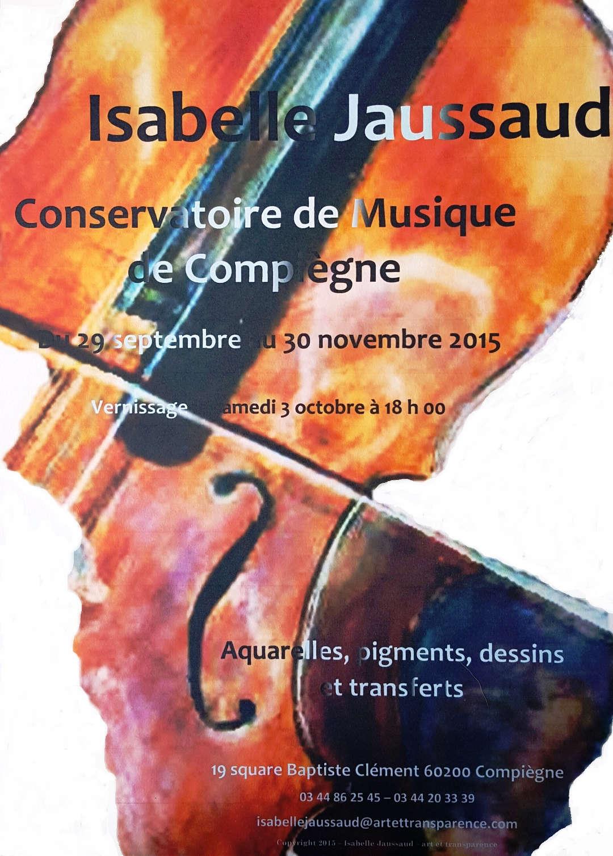 Exposition d'automne au Conservatoire de Musique de Compiègne